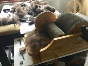 For Sale Spinning Wheel Drum Carder And 4 Shaft Loom The London