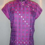 silk blouse in double cloth