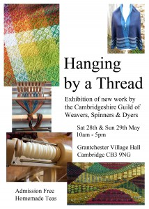 Hanging by a Thread (Cambridge Guild Exhibition) – 28 to 29 May – Granchester