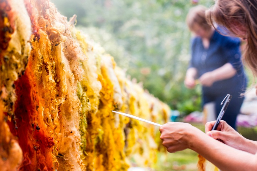 Plant dyed wool workshops – July & September 2017 – the Forge, Byford, River Wye